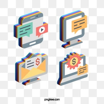 fashion color 3d technology communication media icon design, Cartoon, Icon, Pattern PNG and PSD
