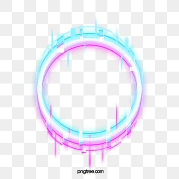 fault neon border element, Circular, Troubleshooting Wind, Glitch PNG and PSD