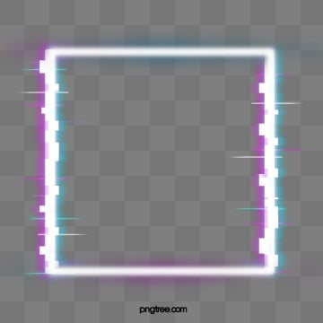 fault neon border element, Troubleshooting Wind, Glitch, Square Box PNG and PSD