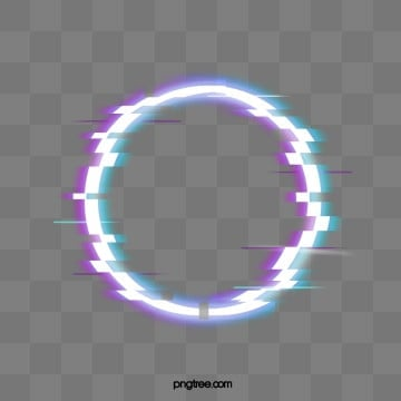 Fault Neon Circle Border Element, Circular, Troubleshooting Wind, Glitch PNG and PSD