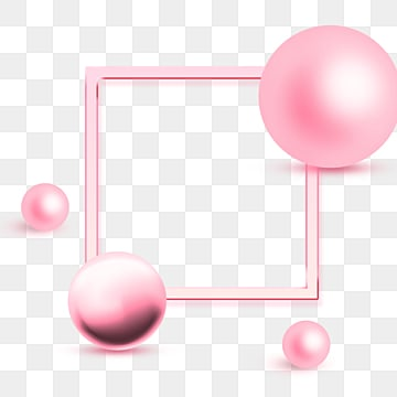 Geometric Elements of Pink Metal Spheres, Gloss, Geometric, Lovely PNG and PSD