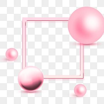 Elementi di geometria della sfera di Metallo Rosa, Luster, La Geometria, Carino PNG e PSD