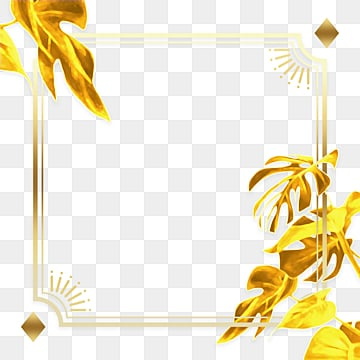 golden gradient geometric border, Geometric, Plant, Gradient PNG and PSD