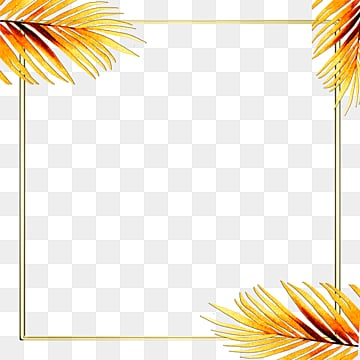 golden tropical plants exquisite geometric borders, Geometric, Creative, Magnificent PNG and PSD