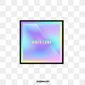 Halftone color gradient square, Color, Square, Square Box PNG and PSD