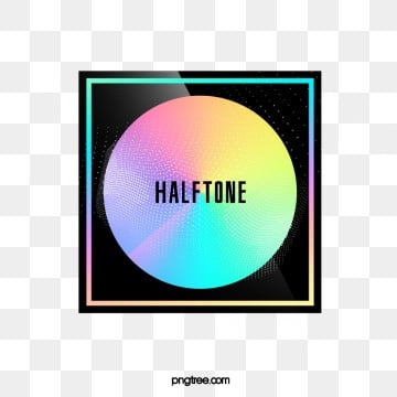 halftone color laser circular gradient border, Circular, Color, Square PNG and PSD