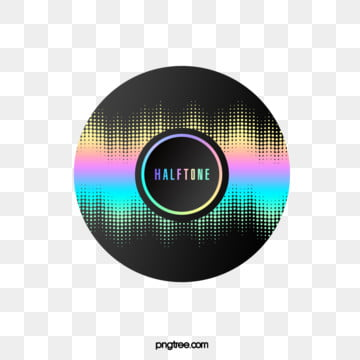 Halftone Color Laser Gradient Circular Border, Circular, Color, Gradient PNG and PSD