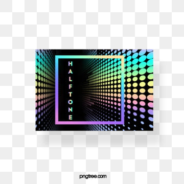 Halftone color laser gradient stereo rectangular text box, Color, Square, Label PNG and PSD