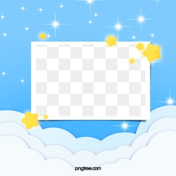 hand painted baby style frame of cute star nebula, A Bank Of Clouds, Lovely, Baby PNG and PSD