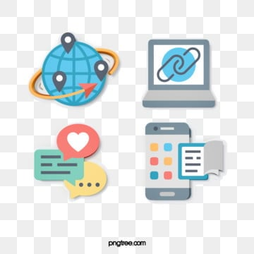 modern fashion 3d stereo science and technology communication icon design, 3d, Cartoon, Icon PNG and PSD