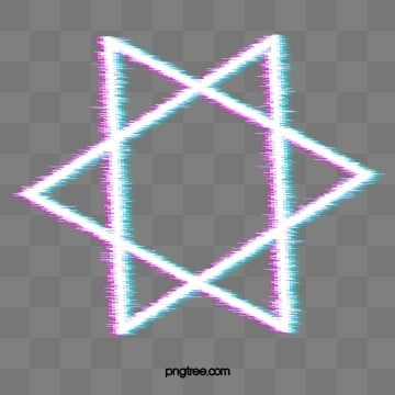Neon Effect Fault Border Element, Triangle, Element, Geometric PNG and PSD