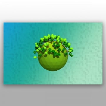 our isolated planet with trees on a background, Environment, Green, Planet PNG and PSD