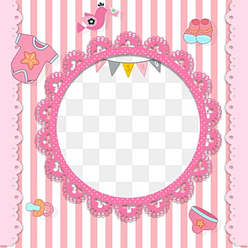 pink baby frame elements, Children, Cartoon, Lovely PNG and PSD