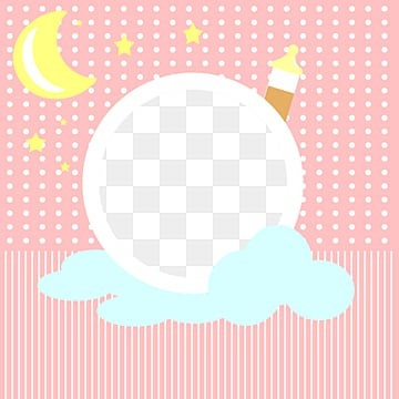 pink blue baby warm photo frame star moon cloud bottle, Flaky Clouds, Feeding Bottle, Baby PNG and PSD