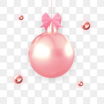 Pink Metal Balls to Decorate Festival Elements, Gloss, Christmas Ball, Luxurious PNG and PSD