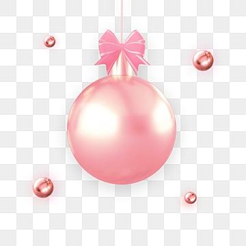 Palla di Metallo di elementi di  Festival di Rosa, Luster, Palle Di Natale, Di Lusso. PNG e PSD