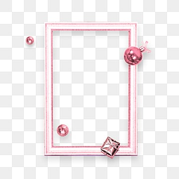 Pink Stereo Metal Frame Border Elements, Lovely, Christmas Ball, Celebrating PNG and PSD