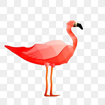 polygonal animal flamingo particle sense illustration, Low Polygon, Animal, Cartoon PNG and PSD
