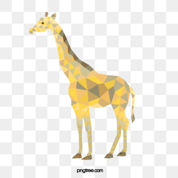 polygonal animal gradient block geometry hand painted giraffe, Geometric, Animal, Polygon PNG and PSD