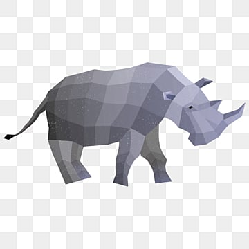 polygonal animal hippo granular sense illustration, Low Polygon, Animal, Cartoon PNG and PSD