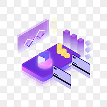 purple 25d mobile payment credit card element, 3d, Credit Card, Mobile Phone PNG and PSD