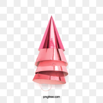 Rose Gold Pink Metal Party Hat Celebration Elements, Triangular Cap, Element, Lovely PNG and PSD