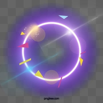 round element shining neon border, Luminous Efficiency, Shine, Geometric PNG and PSD