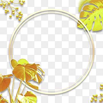 round gradual golden plant geometric border, Geometric, Circular, Plant PNG and PSD