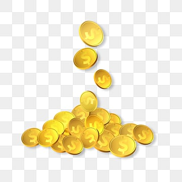 texture piles up falling financial gold coin elements, Business Affairs, Accumulation State, Investment And Financing PNG and PSD