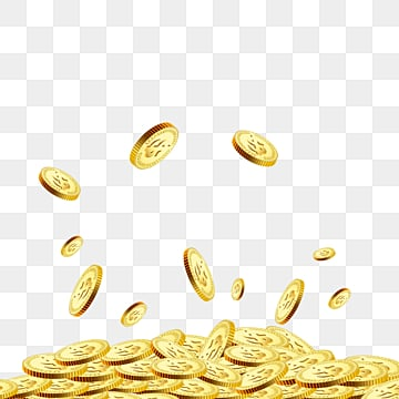 texture spreads accumulated business gold coin elements, Business Affairs, Investment And Financing, Dollar PNG and PSD
