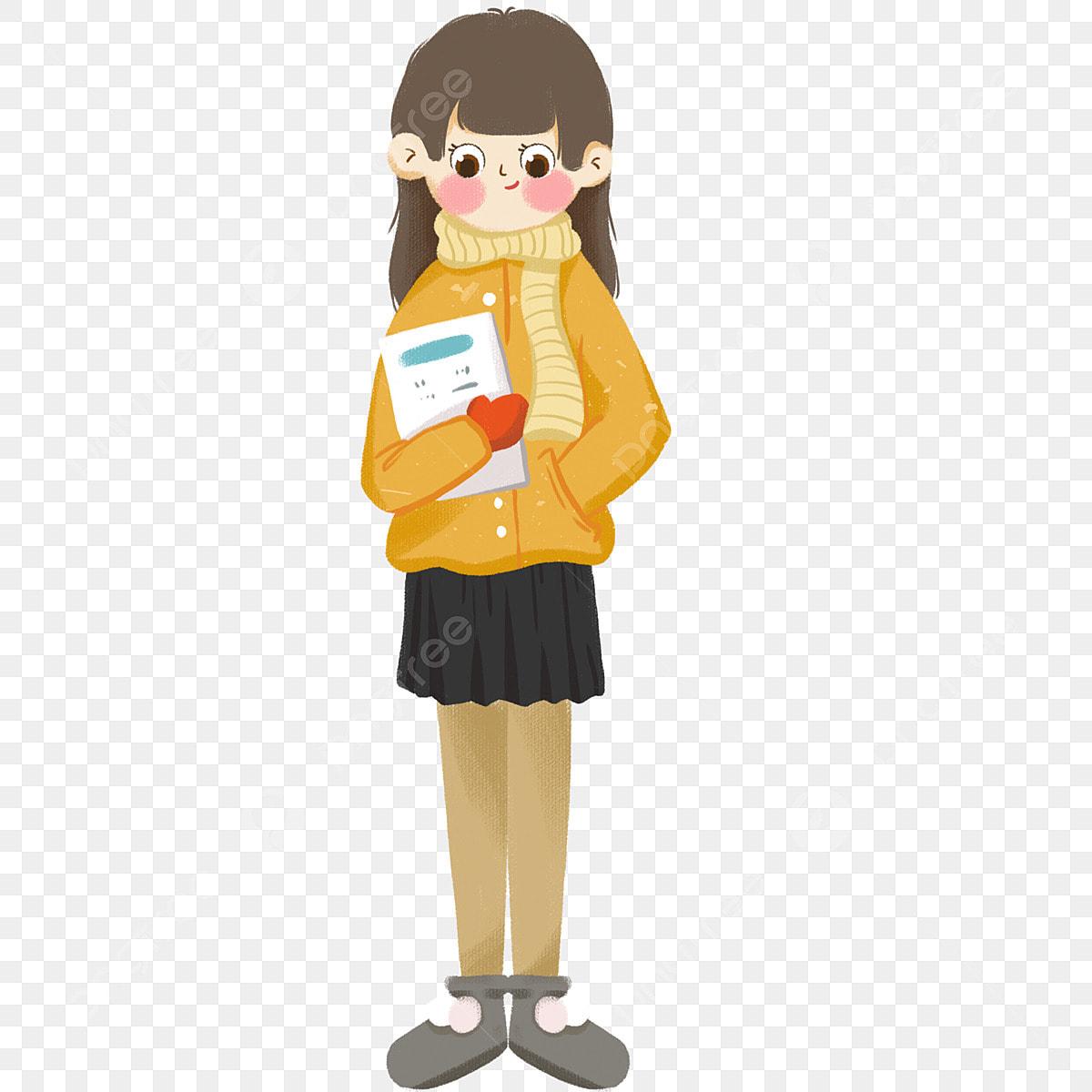 Dessinee Main Livre Anime Fille Dessin Long Une Tenant