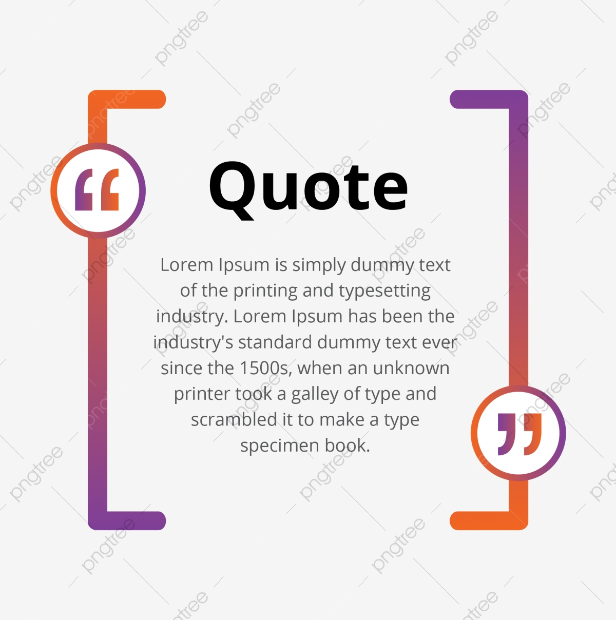 Abstract Quote Blank Bubble With Commas Template, Abstract, Quote