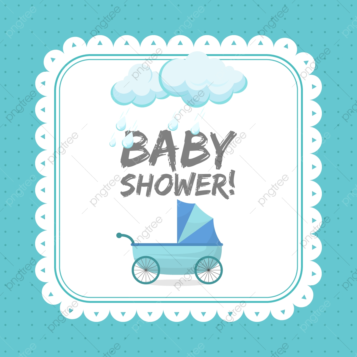 Baby Shower Invitation Card Template Baby Shower Elephant Png And Vector With Transparent Background For Free Download