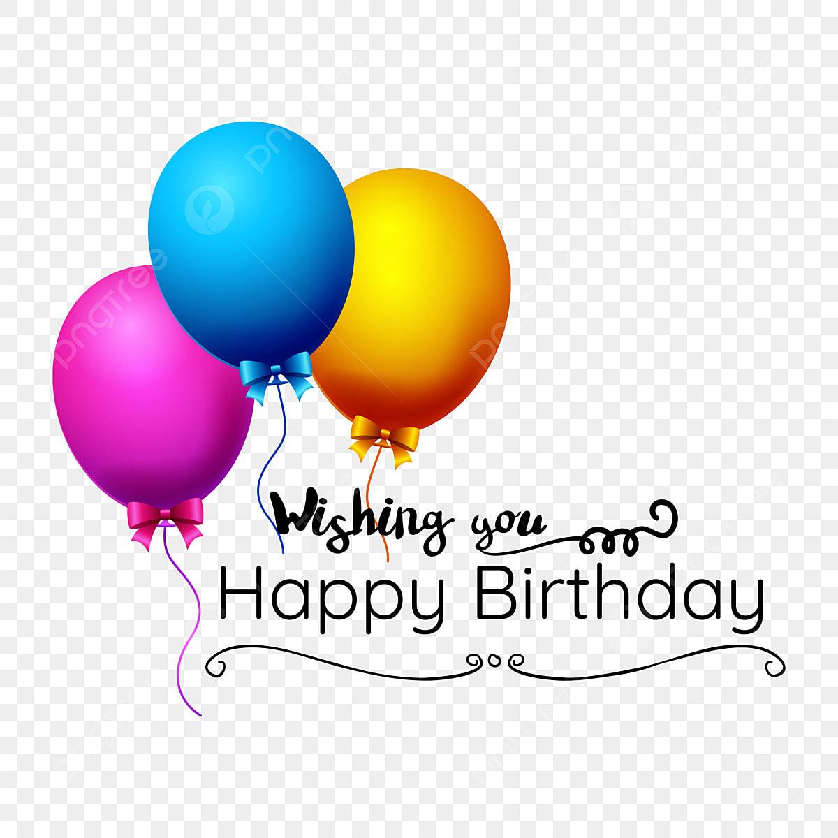 Balloon Birthday Greeting Card Label, Birthday, Card, Happy PNG