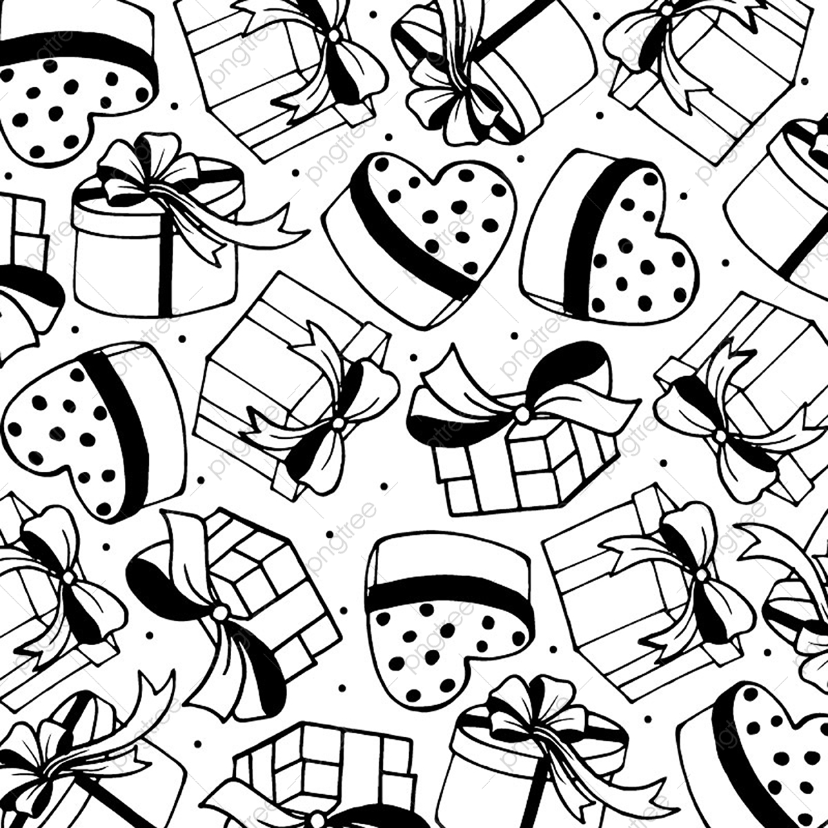 Black And White Valentine Pattern Background Heart Vector Romance Gift Vector Png And Vector With Transparent Background For Free Download