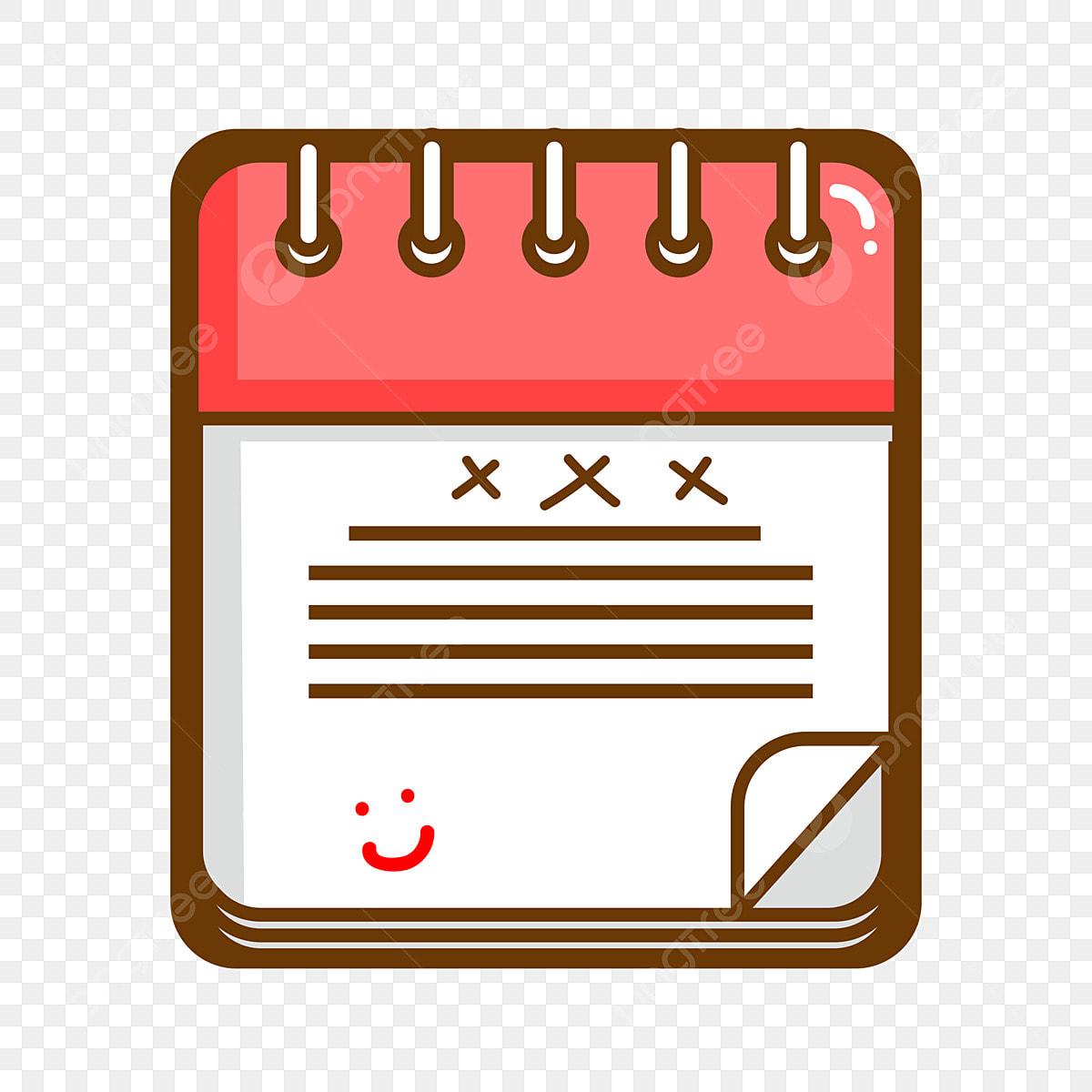 Calendario Dibujo Png.Material De Cuaderno Calendario Dibujos Animados Dibujos