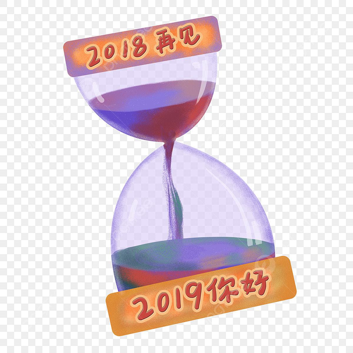 Ampulheta De Tempo Desenhada Mao Dos Desenhos Animados Caricatura