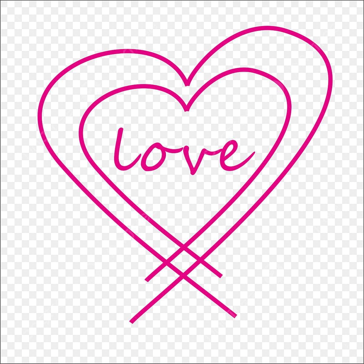 Dibujos Animados Dibujo Lineal Amor Rosa Amor De Dibujos Animados