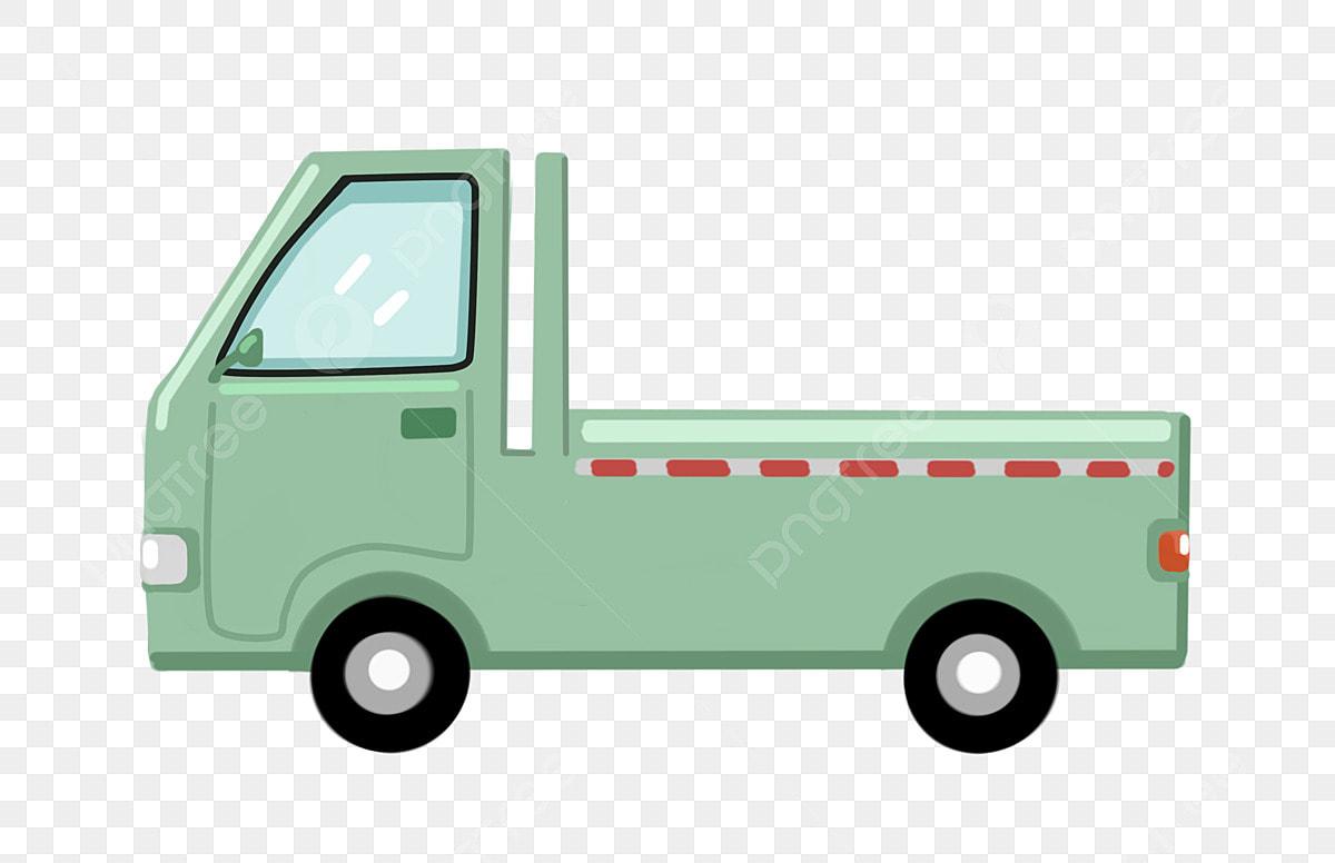 Vagón De Dibujos Animados Camioneta Verde Vagón De Dibujos