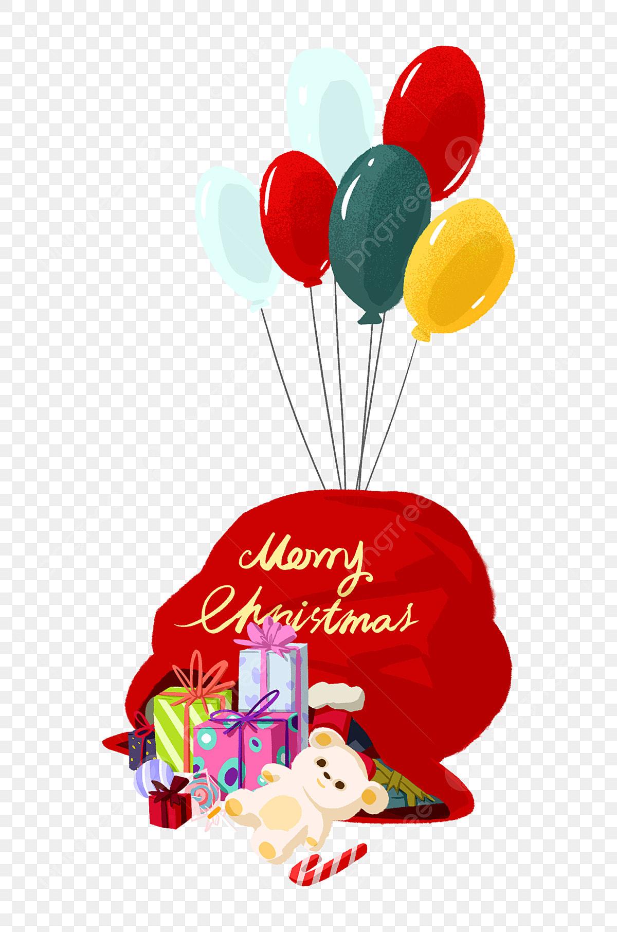 Christmas Colorful Balloons Christmas Gift Bag Gift Red