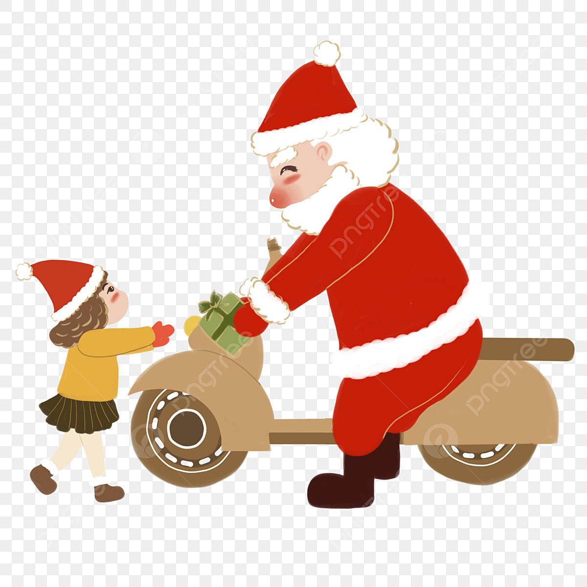 Christmas Gift For Children Hand Drawn Santa Claus Hair