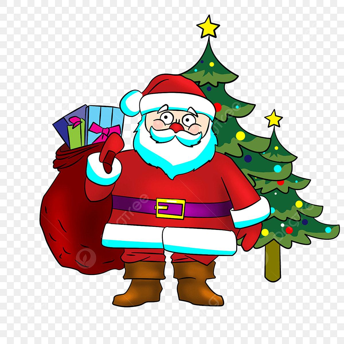 Natal Papai Noel Arvore De Natal Toques Colorido Spree Papai