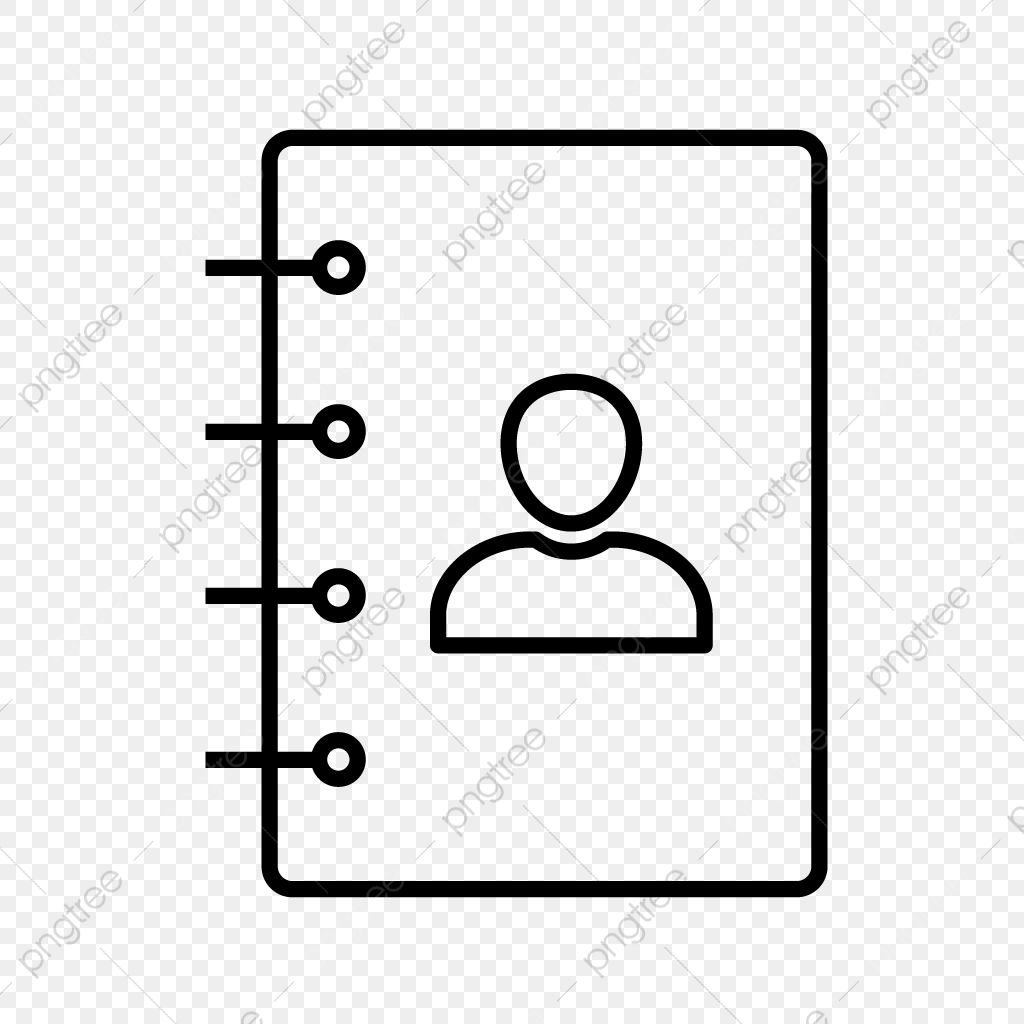 Contacts Line Black Icon Line Icons Black Icons Contacts Png And Vector With Transparent Background For Free Download