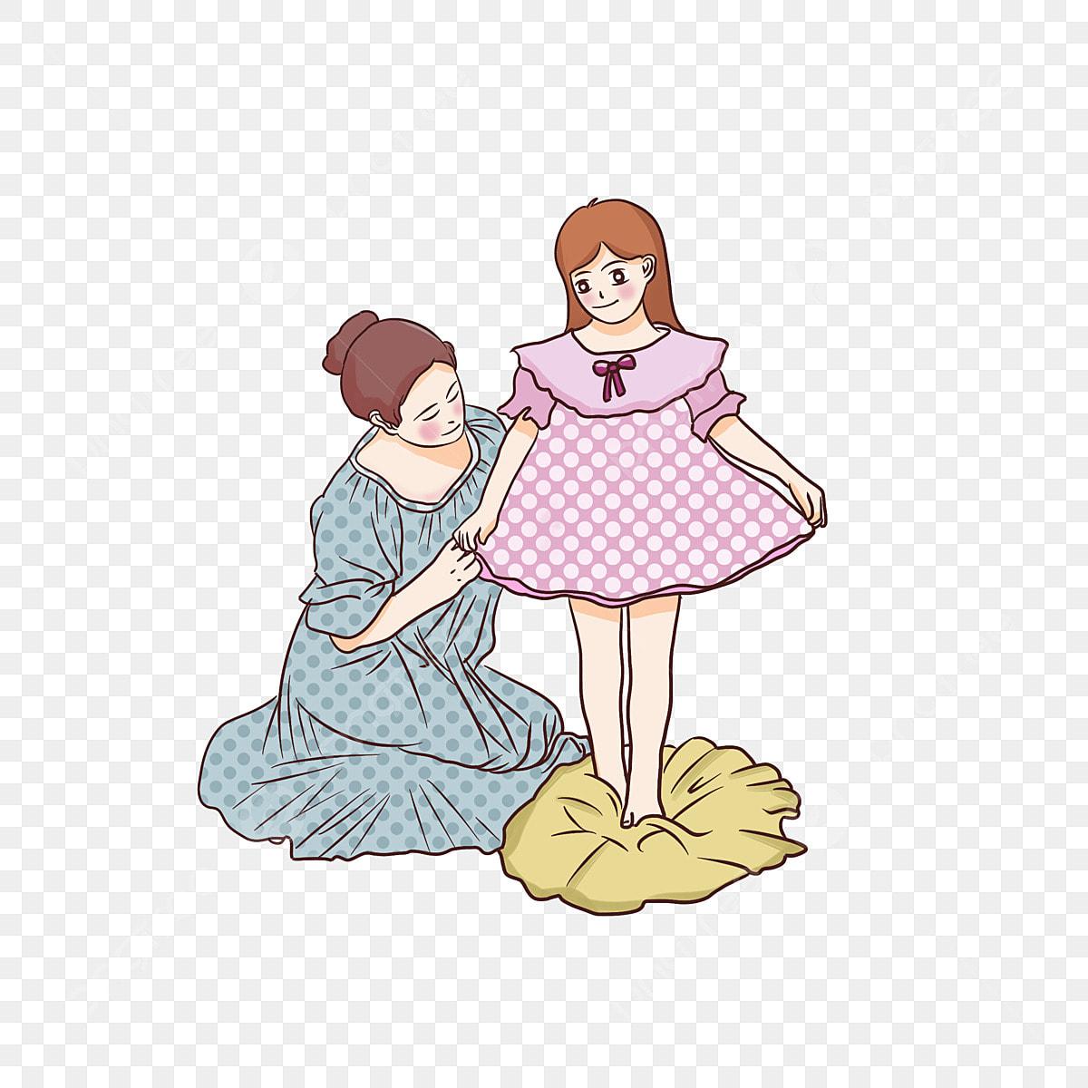 400 Koleksi Gambar Kartun Anak Perempuan Dan Ibunya Terbaru