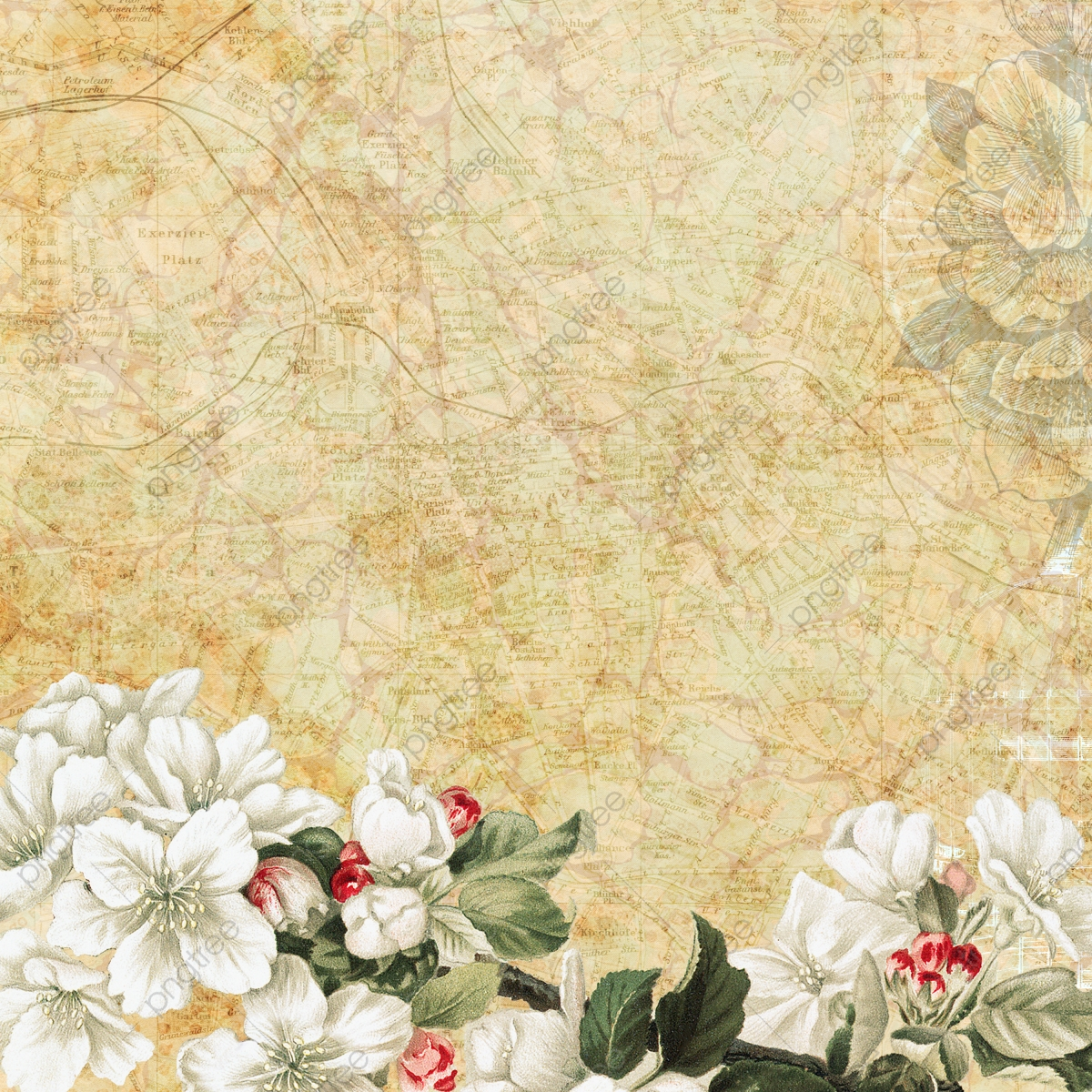 Elegant Vintage Floral Background Background Vintage Floral