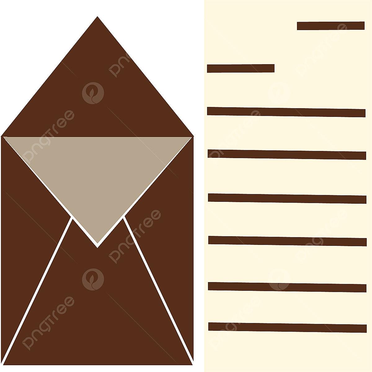 Sampul Surat Dan Surat Coklat Amplop Surat Png Dan Vektor