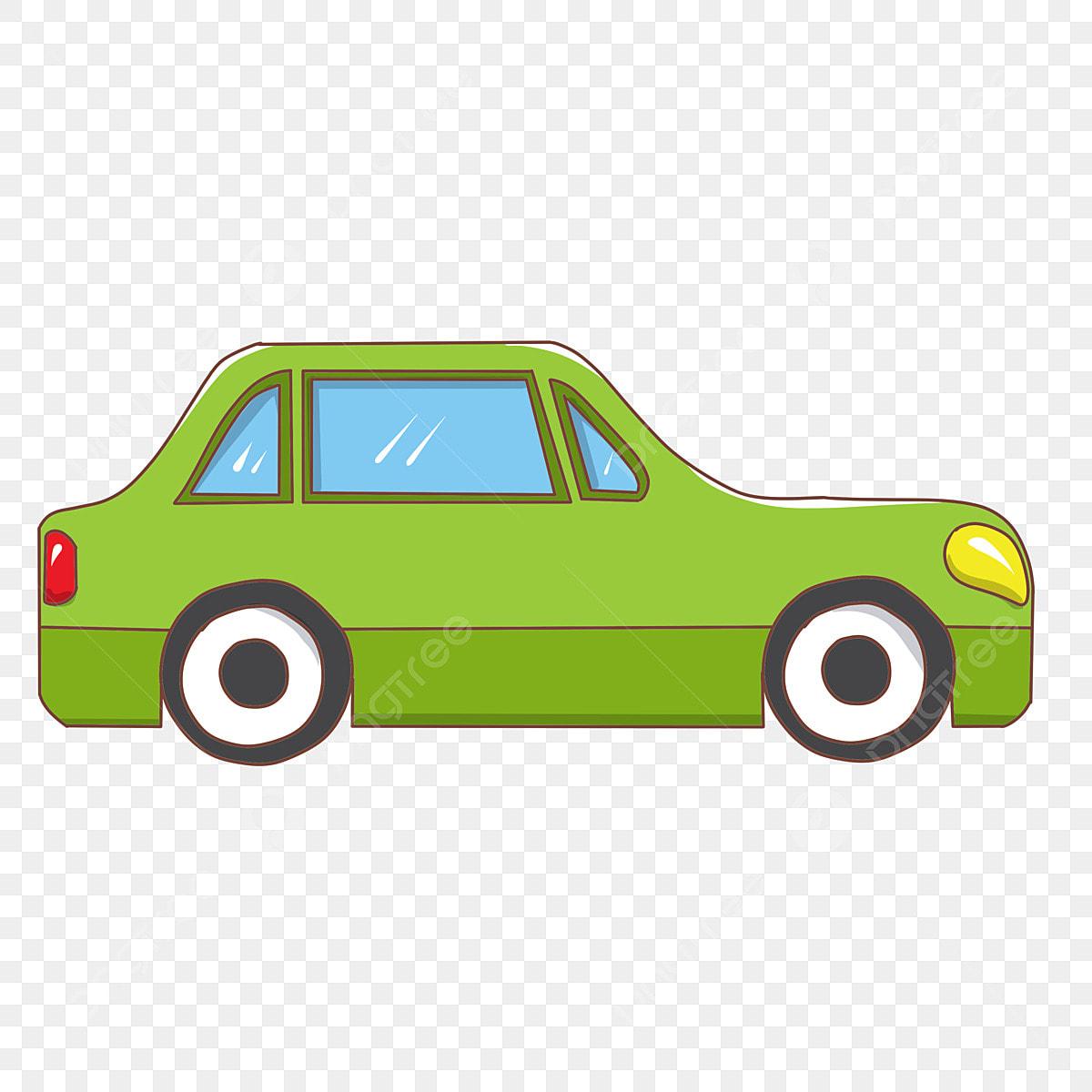 coche verde coche dibujado a mano hermoso carro coche de
