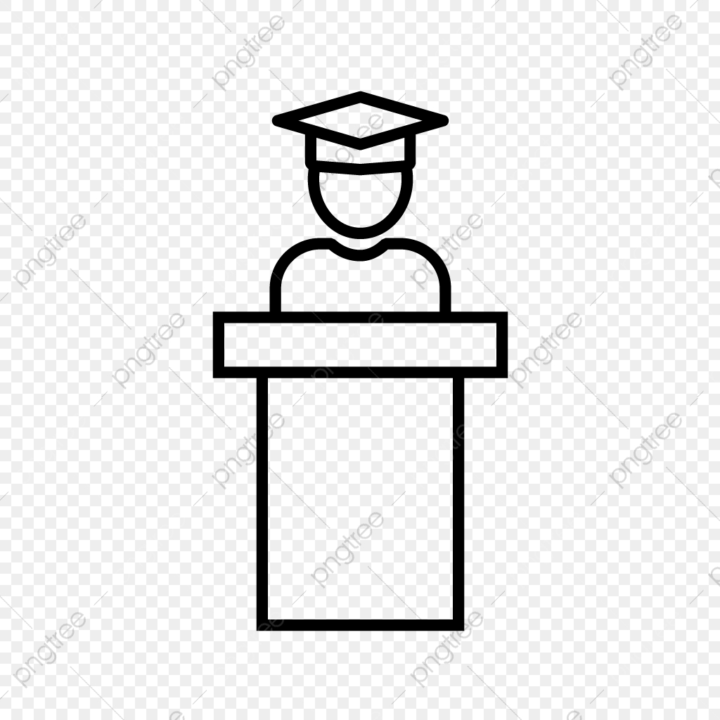Guest Speaker Line Black Icon, Guest Speaker, Guest, Speaker PNG and
