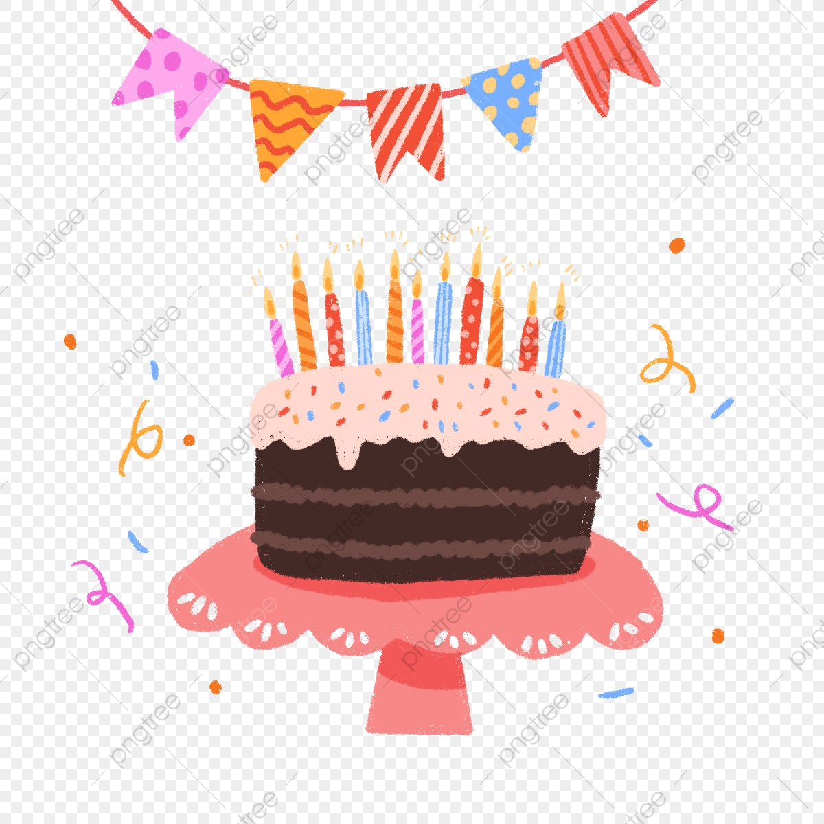 Admirable Hand Draw Cute Birthday Cake Hand Drawn Cute Birthday Cake Png Funny Birthday Cards Online Alyptdamsfinfo