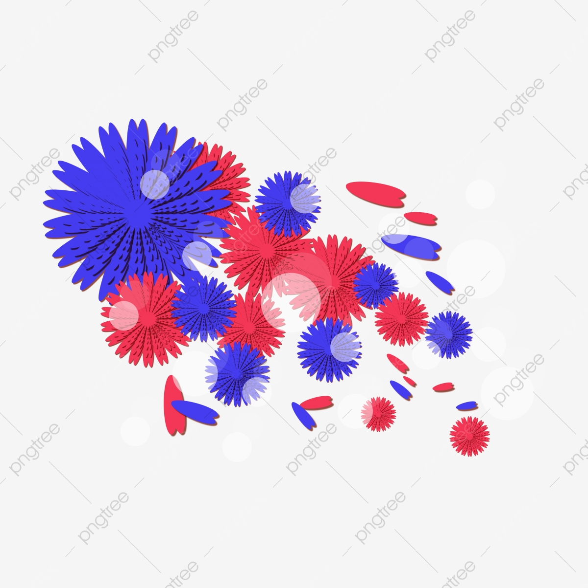 Tangan Ditarik Biru Kecerunan Bunga Jepun Kartun Rotten Png Dan